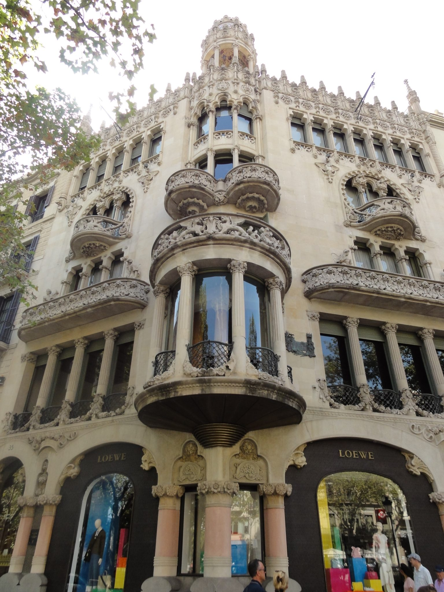 Passeig De Gracia Is The Central Boulevard In Eixample Neighbourhood And Lined With Beautiful Buildings Modernista Style